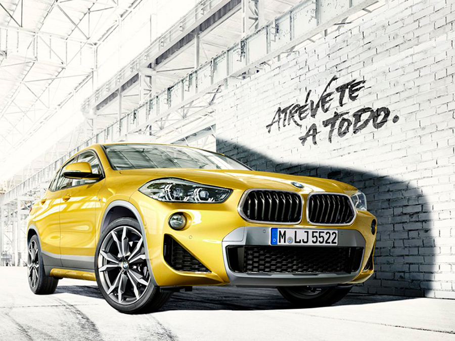 Publicidad en Vigo. Corre Lola Corre. BMW